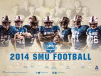 SMU Football Poster