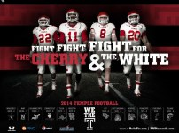 Temple Football Poster