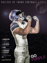 College of Idaho Football Poster