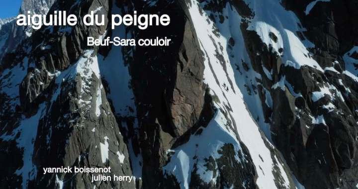 En vidéo – Première descente du vertigineux couloir Beuf-Sara