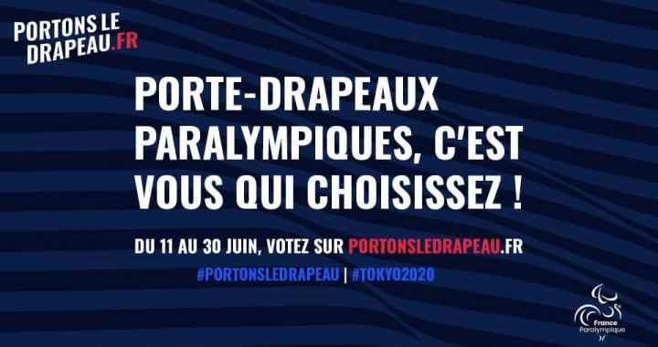 Votez pour les Porte-Drapeaux de l'Equipe de France Paralympiques !