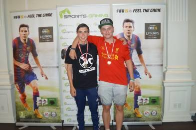 De to spillere fra 'Fyns Stolthed' til Odense Open.