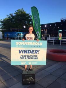 Claes Hansen blev vinderen af Sommerbold E-Sport 2016.
