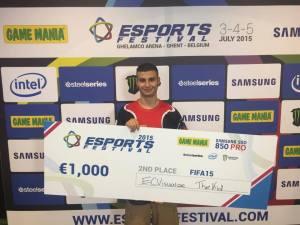 Wahed Obayd til ESports Festival, hvor han fik en andenplads og dermed fik 1.000 euro med sig hjem.
