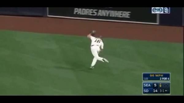 Watch MLB Jankowski diving Catch Highlights 2016   HD