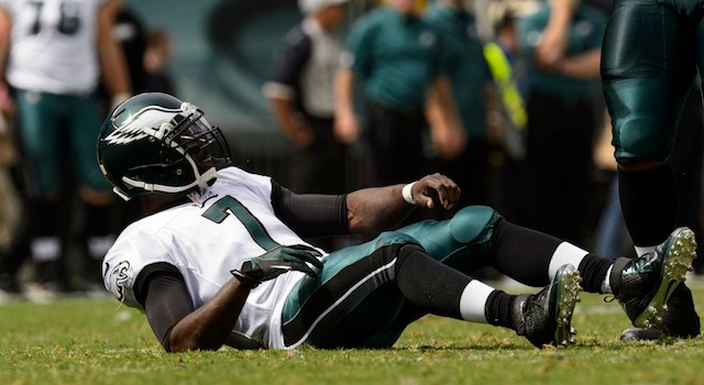 Can Michael Vick stay on his feet or stay healthy? (USATSI)