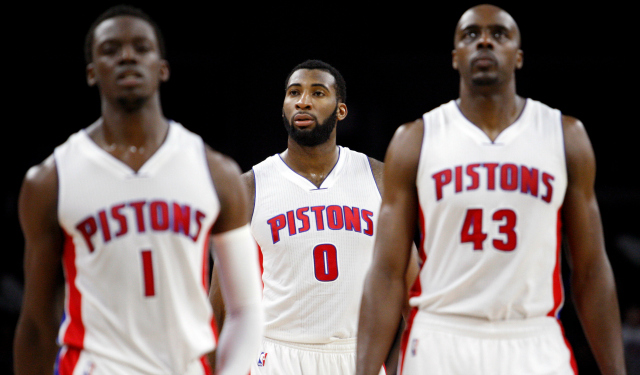 The Pistons are building around Andre Drummond with small ball. (USATSI)
