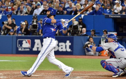 Jose Bautista hit a clutch three-run home run in Game 5.