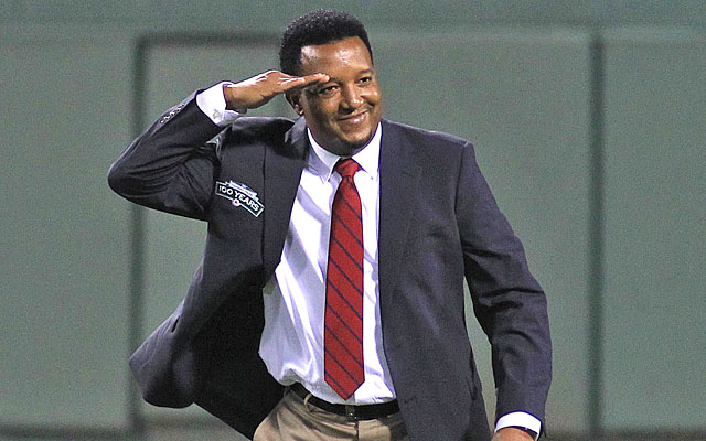 Pedro Martinez helped celebrate the 100th birthday of Fenway Park, where he was 58-19 in his career. (Getty Images)