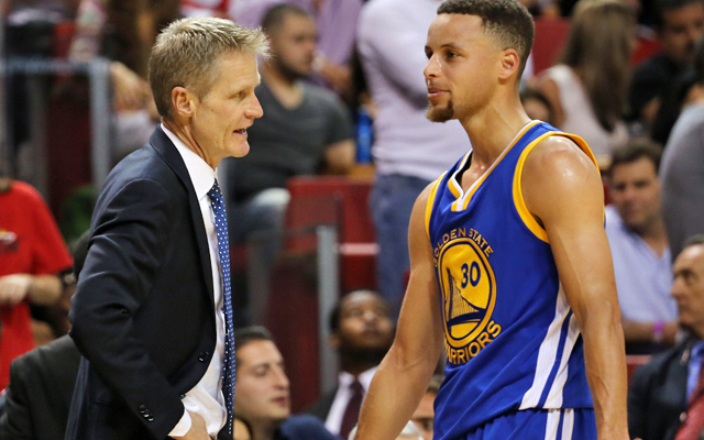 Steve Kerr missed a lot of time early, but he's still a favorite for coach of the year. (USATSI)