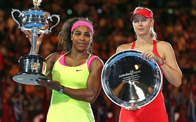 Resultado de imagem para serena williams australian open titles sharapova final