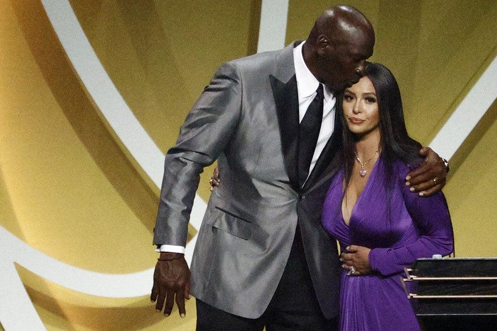 Michael Jordan Vanessa Bryant Kobe Hall of Fame induction