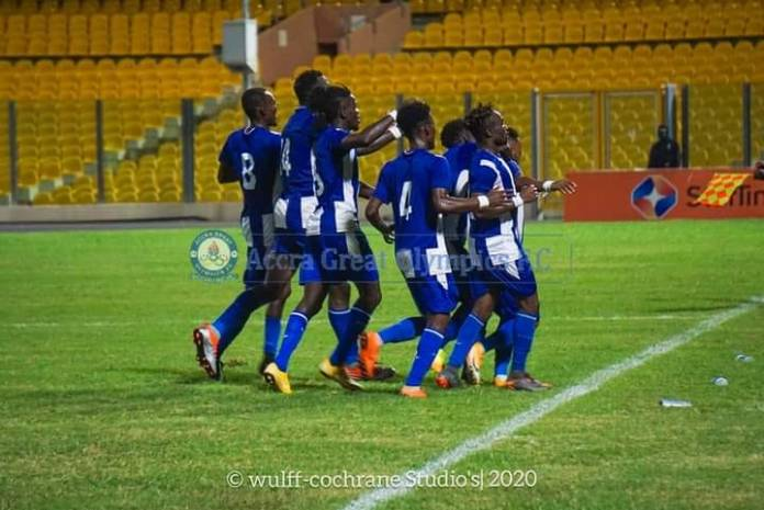 Accra Great Olympics on Friday, recorded an emphatic 3-0 win against Legon Cities at the Accra Sports stadium