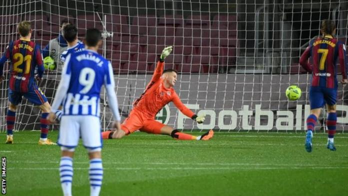 Frenkie de Jong's winner was his first goal since February