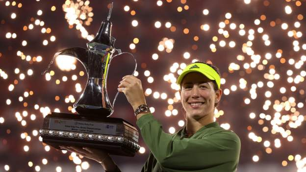 Two-time Grand Slam champion Garbine Muguruza claimed a first WTA title in almost two years after winning the Dubai Championships.