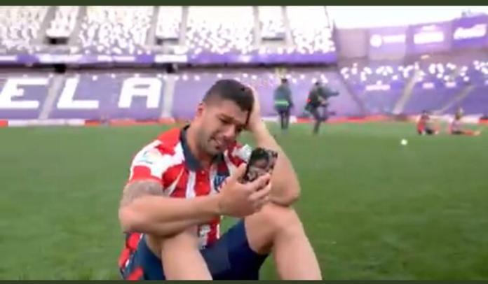 Tearful Luis Suarez