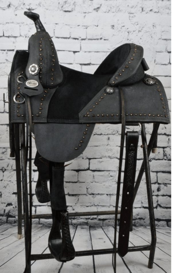 "THE ""DARK HORSE"" BARREL SADDLE"