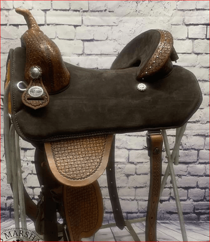 bob marshall sports saddle treeless barrel racer