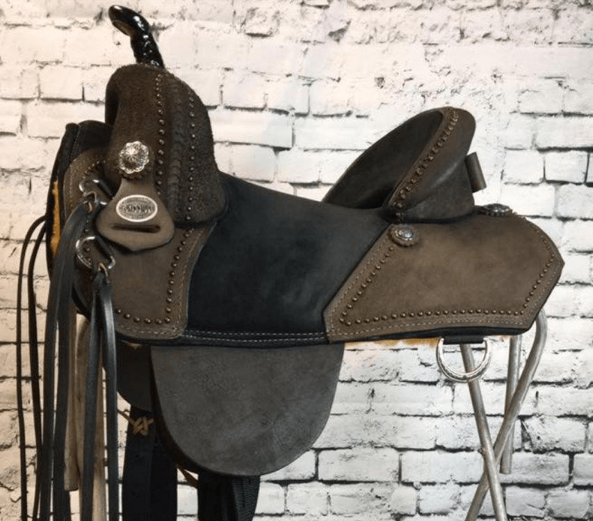 Equestrian horse saddle rider barrel custom