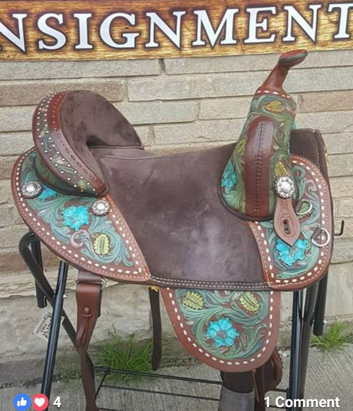 equestrian horse saddle custom painted leather