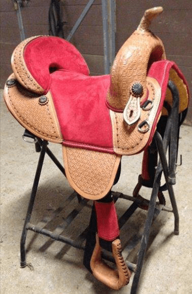 Equestrian horse saddle rider custom tooling