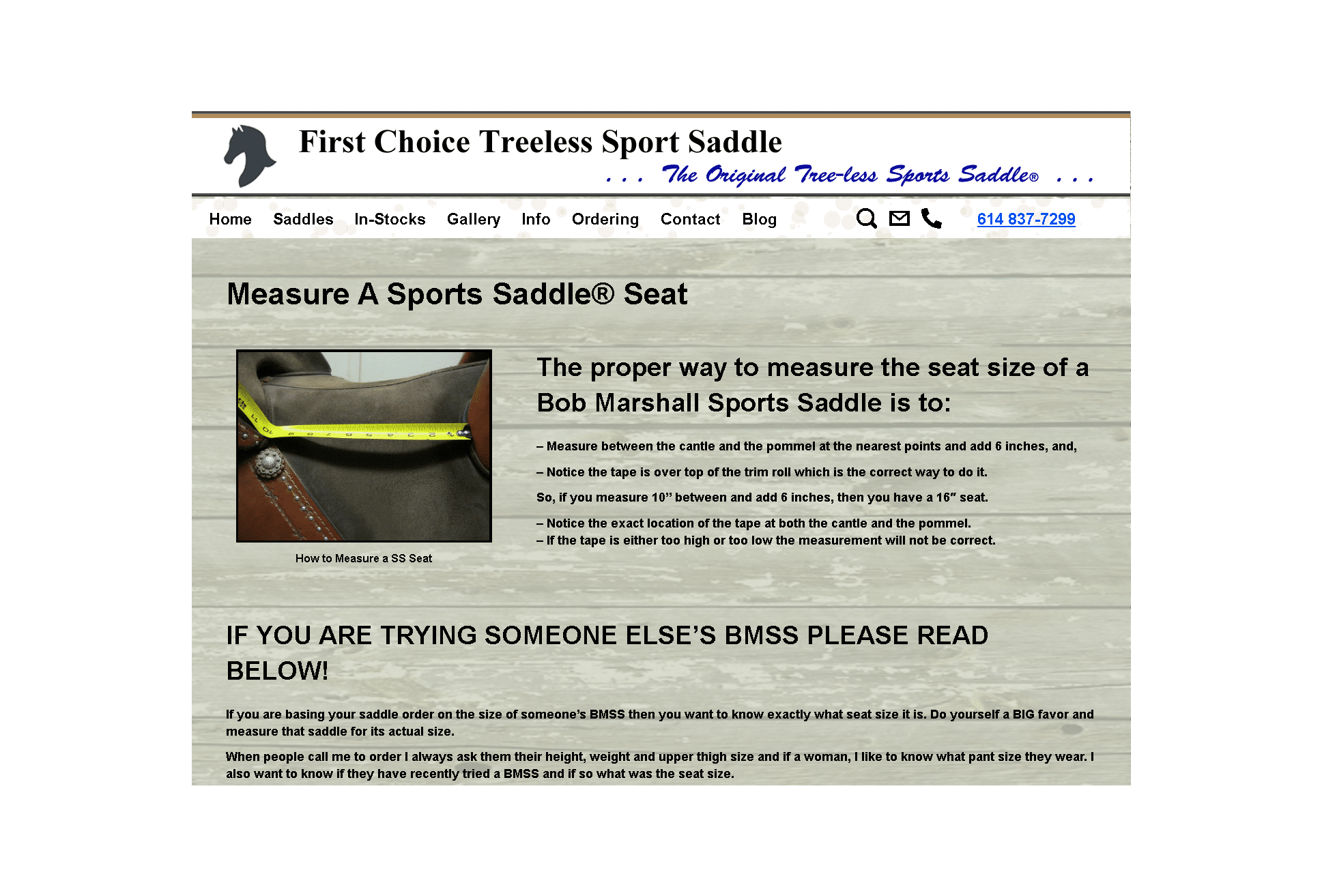 Sportsaddle.com Blog - Customer feedback featuring Bob Marshall Sports Saddles