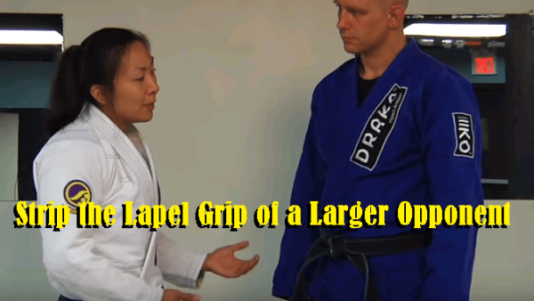 How to Strip the Lapel Grip of a Larger Opponent