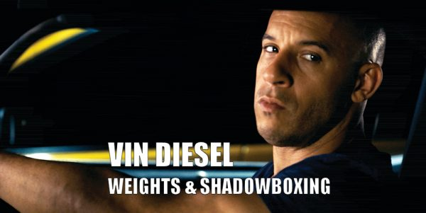 Vin Diesel Training Weights & Shadowboxing with MMA gloves