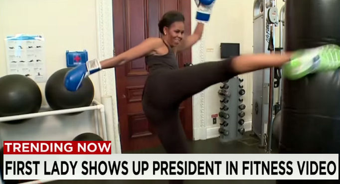 Former First Lady Michelle Obama Fitness Video