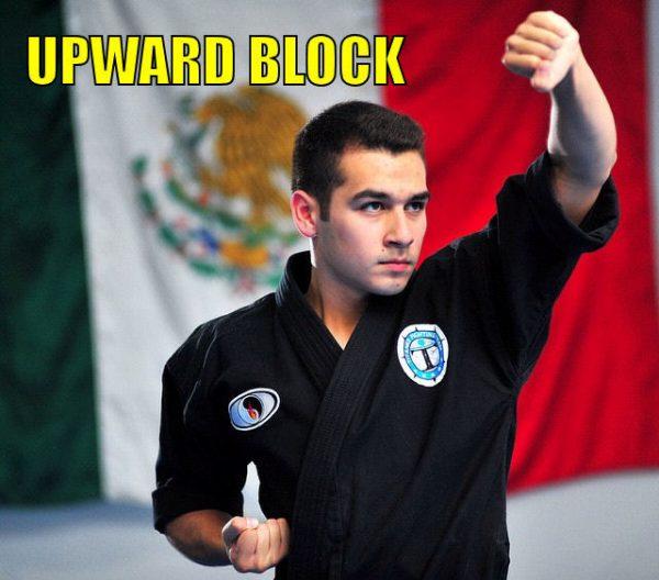 The upward block