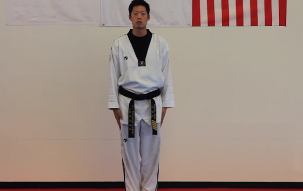 Learn How To Do Cha Ryut Attention Stance In Taekwondo