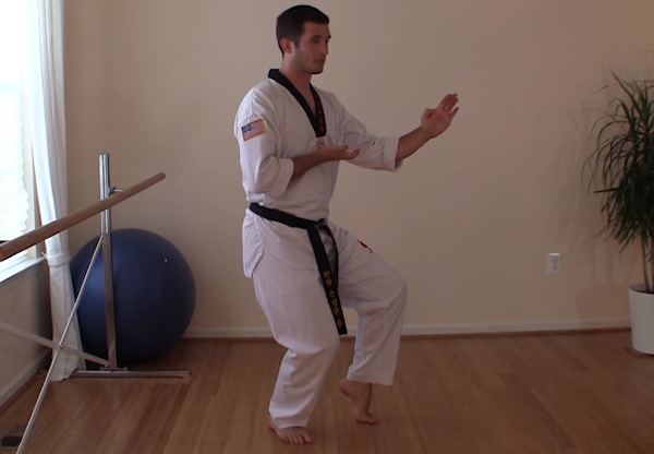 This is the Tiger Stance in Taekwondo