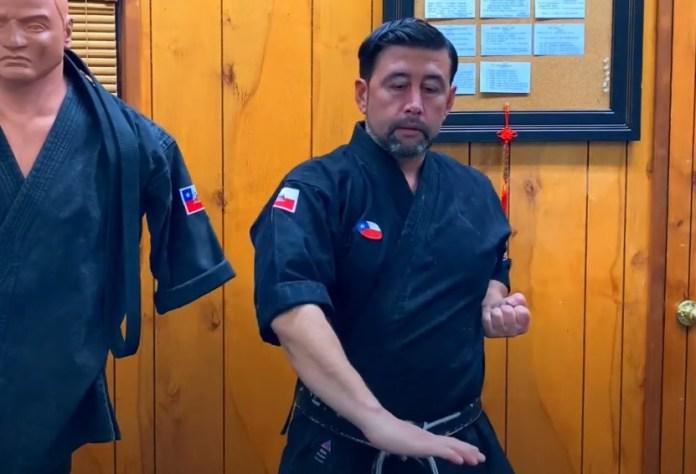 Push Down Block in Kenpo Karate