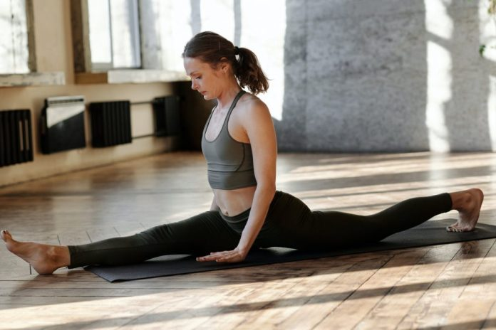 Front Split Stretch and hold