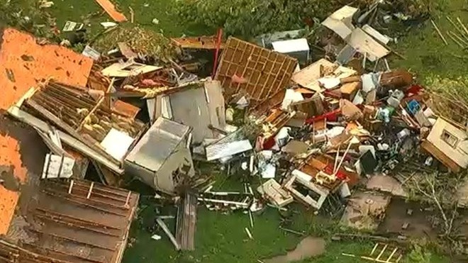 A tornado hit the US state of Texas on Wednesday evening, April 22.