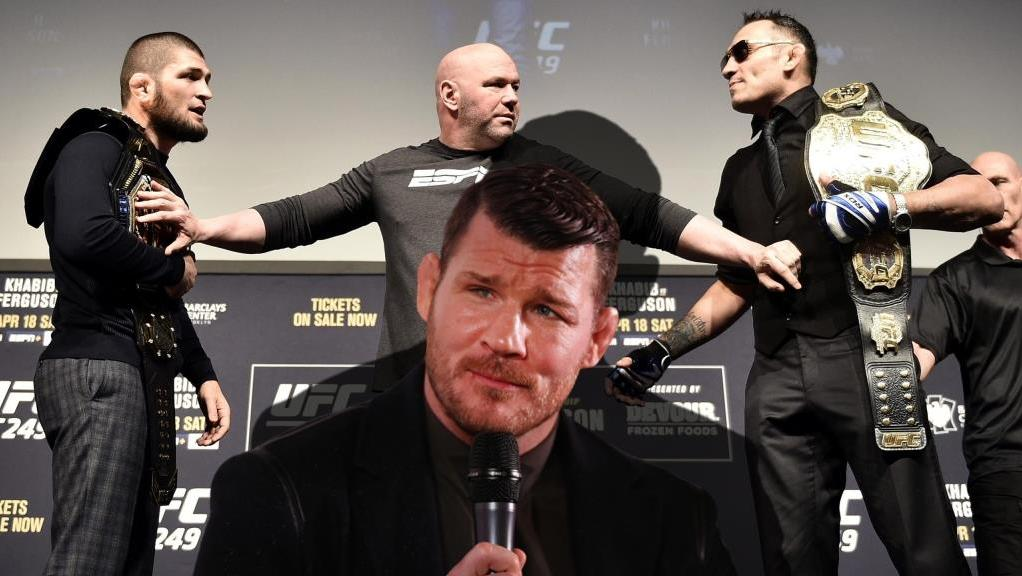 Michael Bisping reacted to Ferguson's criticism of Khabib's record