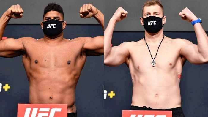 Weigh-in results for UFC Fight Night 184: Volkov outweighed Overeem