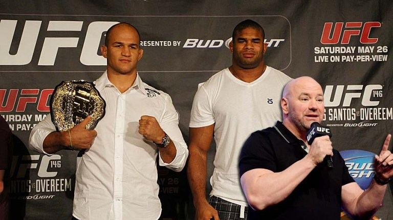 Dana White commented on the dismissal of Overeem and Dos Santos