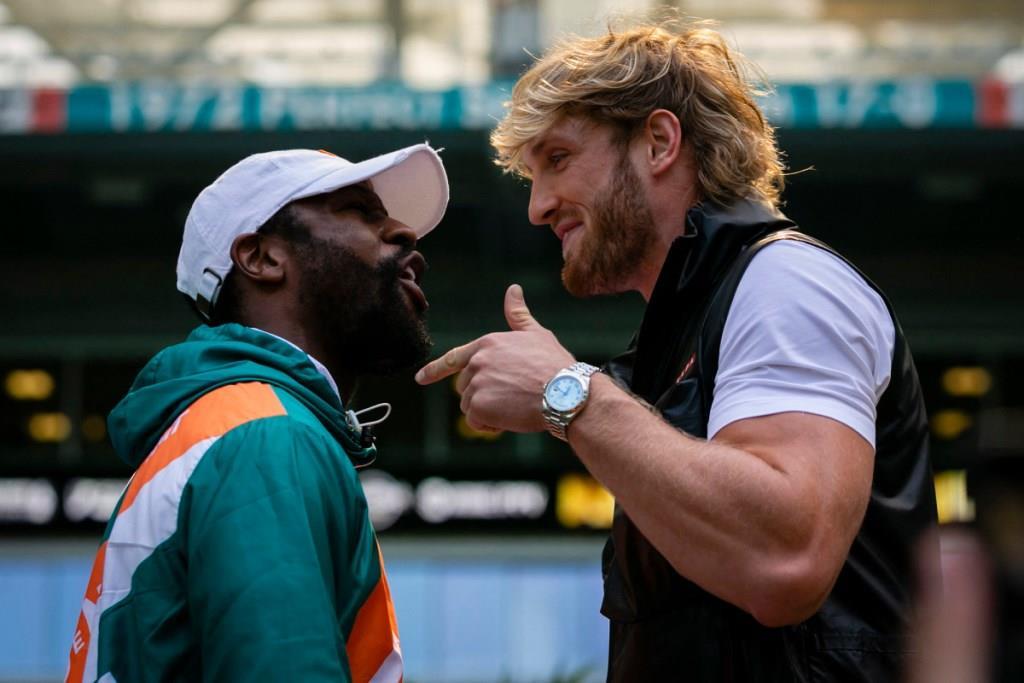 Floyd Mayweather vs. Logan Paul media day 1