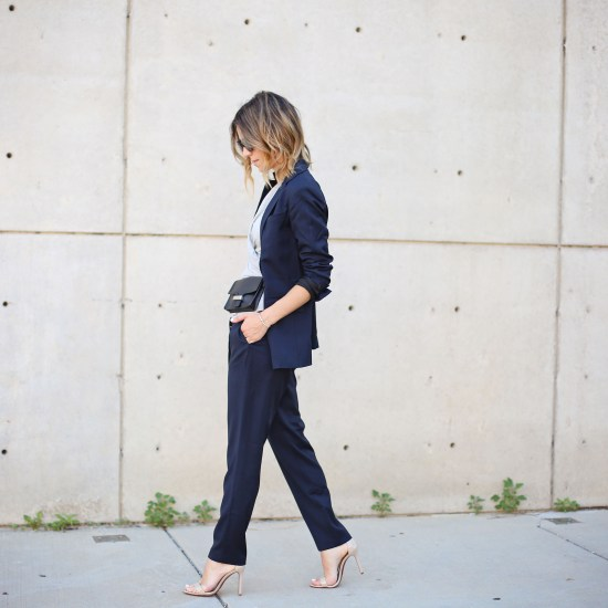 Work Wear fashion, Relaxed Navy Blazer, Zady, Chicago Fashion Blogger, Fashion and Sports