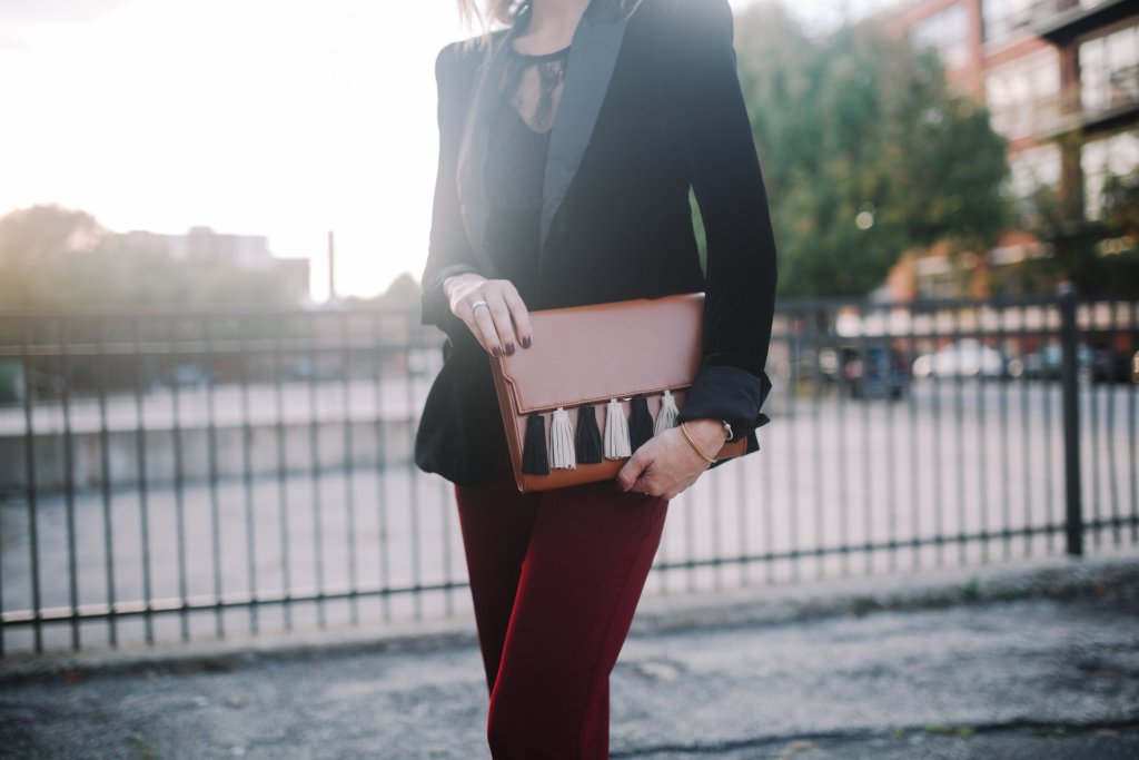 Marshall Work Fashion, Chicago Fashion Blogger, Sam Edelman Velvet Blazer