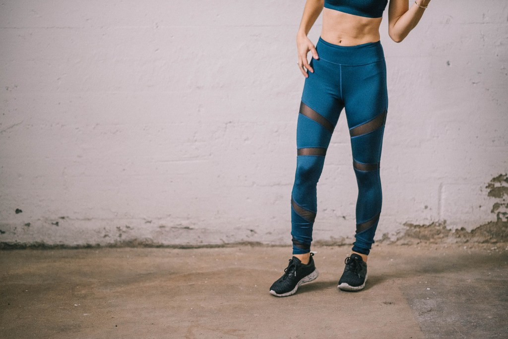 Popsugar Two Week Workout and Mesh workout pants