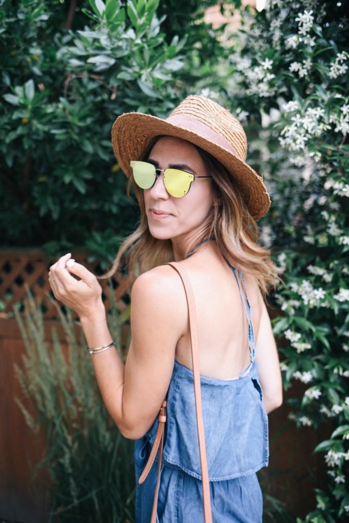 Splitfire Mirrored Sunglasses and Blogger Mary Krosnjar