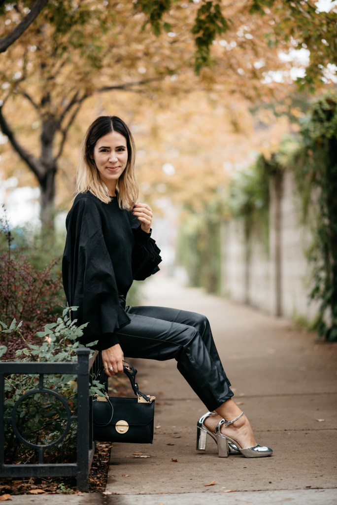 Chicago Fashion Blogger and Best Faux Leather Pants