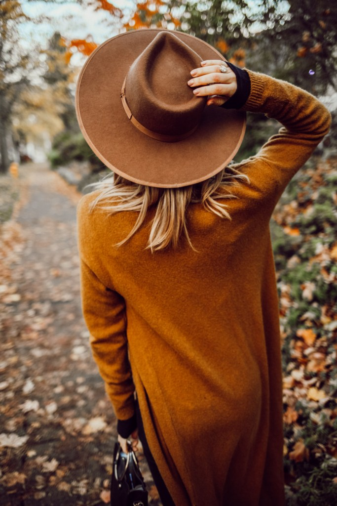 Blogger Mary Krosnjar Brixton Full Brim Hat and Best of Cyber Monday Sales