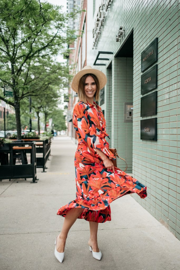 Blogger Mary Krosnjar wearing Ruffle Hem Maxi Tank Dress and Who What Wear Target Collection