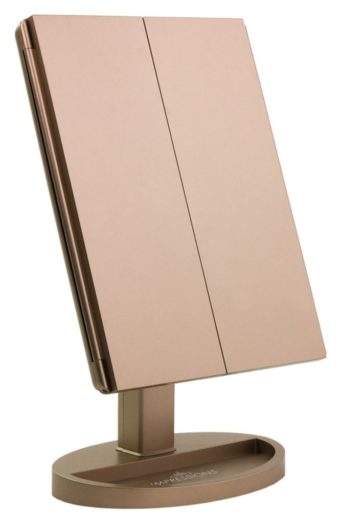 Impressions Vanity Co. Touch Trifold XL Dimmable LED Makeup Mirror