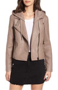 Blank NYC Hooded Leather Jacket