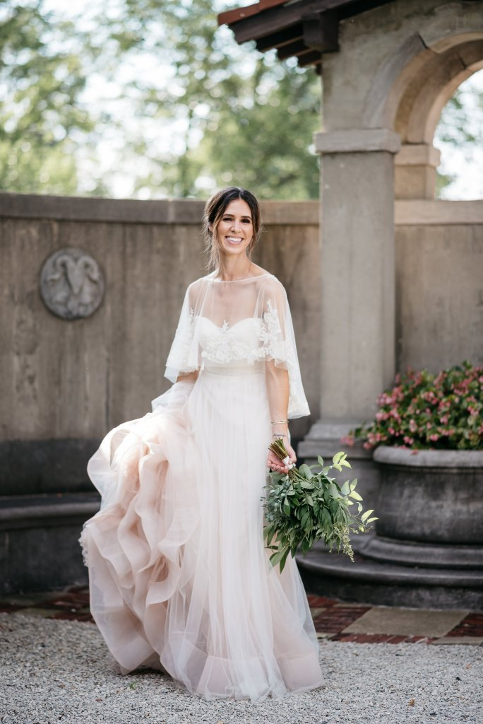 Kelly Faetanini Florence Gown + Lace Cape