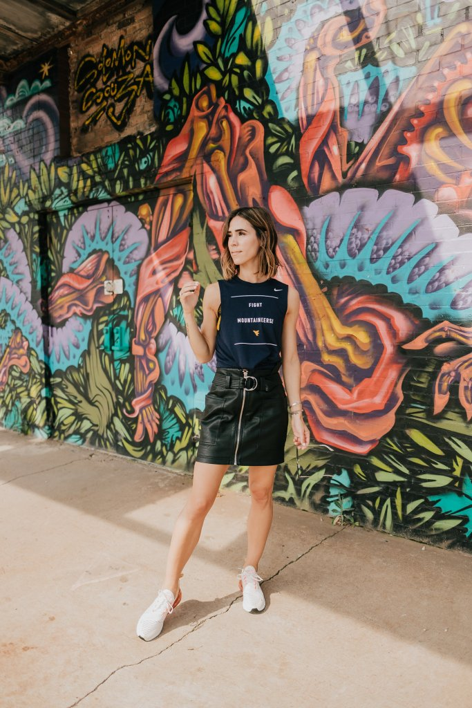Blogger Mary Krosnjar sharing game day fashion inspiration